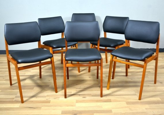 Set of 6 Italian Dining Chairs, 1950s