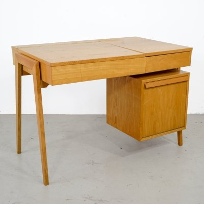 Original wooden desk with storage from Swiss 'Victoria Furniture Baar'