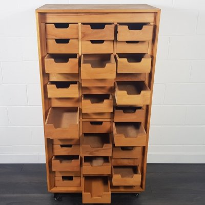 ESA Esavian Tall Chest of Drawers for Schools by James Leonard, 1970s
