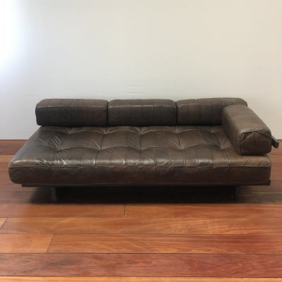 Vintage De Sede DS 80 patchwork leather sofa / daybed, 1970s