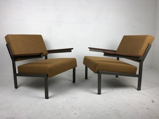 Modernist Dutch Pair of Easy Chairs, 1960s