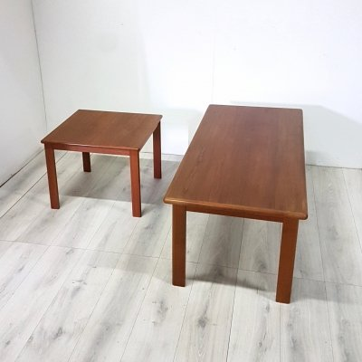 Set of 2 mid century modern teak coffee tables by Imha, Denmark 1960s