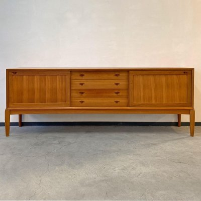Teak sideboard by H.W. Klein for Bramin Denmark, 1960s