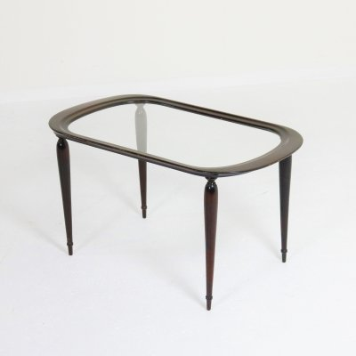 Mahogany coffee table by Cesare Lacca, Italy 1950s