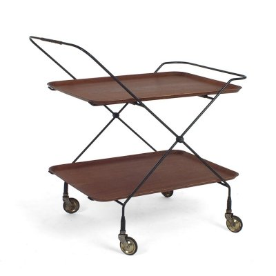 Swedish Bar Trolley by Paul Nagel for JIE Gantofta