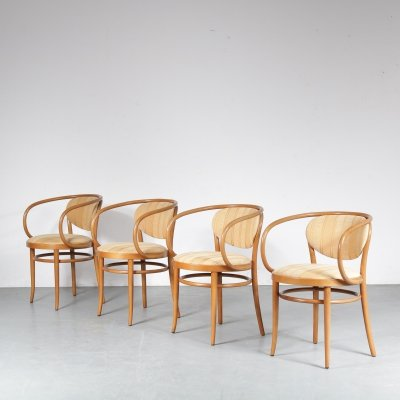 Set of 4 bentwood dining chairs by Thonet, France 1960s