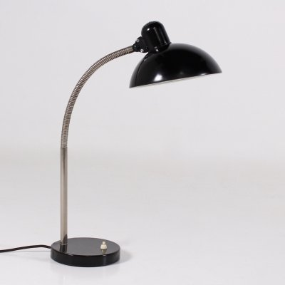Black lacquered steel desk lamp by Cristian Dell for Kaiser Idell, 1950's