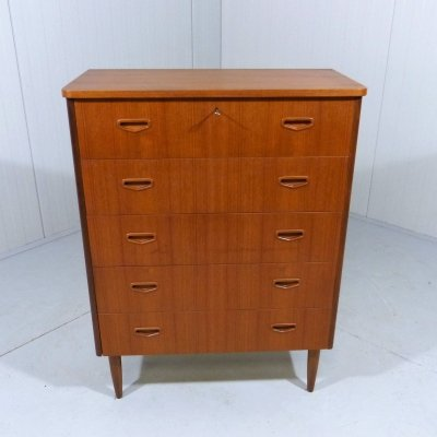 Danish teak chest of drawers, 1960's