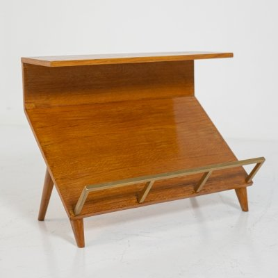 Magazine rack by Marco Zanuso in Wood & brass, 1950s