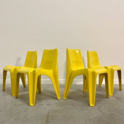 Set of 4 polyester chairs by Helmut Bätzner for Bofinger