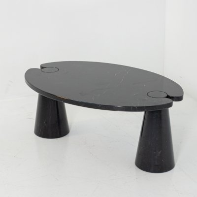 Black marble Eros series side Table by Angelo Mangiarotti for Skipper, 1971