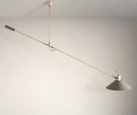 Grey counterbalance lamp by J.J.M. Hoogervorst for Anvia, 1957