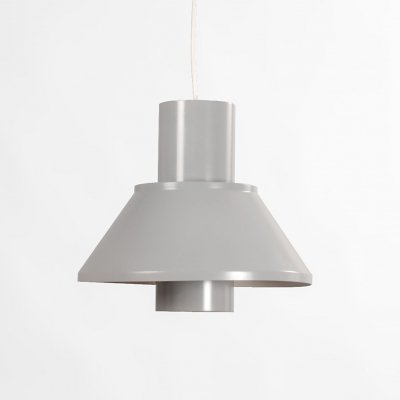 Grey hanging lamp by Jo Hammerborg for Fog & Mørup, Denmark 1970's