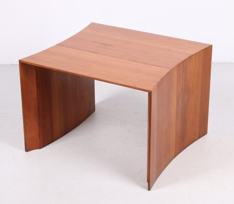 Cherry wood Side table by Konraad De Wulf, 70s
