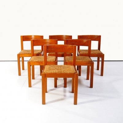 Set of 6 dining chairs, 1970s