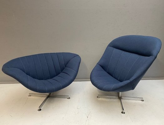 Swivel Lounge Chairs ( Man & Woman) by Rudolf Wolf for Rohe Nordwolde, 1960s
