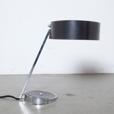 Black & chrome desk light by Hala, 1960s