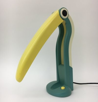 Mid-century toucan table lamp by H. T. Huang, 1980's