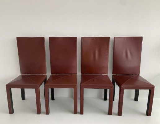Set of 4 postmodern Arcadia chairs by Paolo Piva for B&B Italia, 1980s