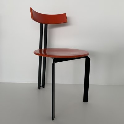 Mid-century design orange 'Zeta' dining chair by Harvink, 1980's
