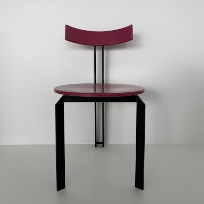Mid-century design pink 'Zeta' dining chair by Harvink, 1980's