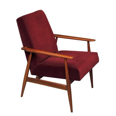 Śnieżnik Type 300-190 Red Wine Armchair by Henryk Lis, Poland 1970s