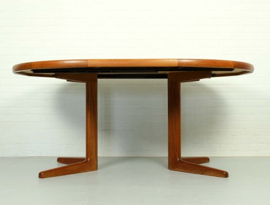 Mid Century Modern Danish Teak Expandable Dining Table by Korup Stolefabrik, 1960s