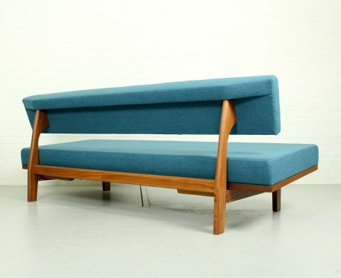 Modell 470 teak sofa by Hans Bellmann for Wilkhahn, 1960s