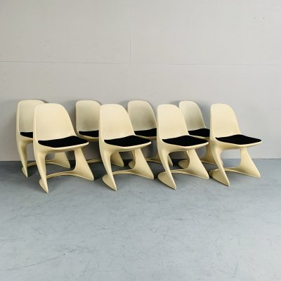 Set of 8 Casalino chairs by Alexander Begge for Casala, Germany 1970s