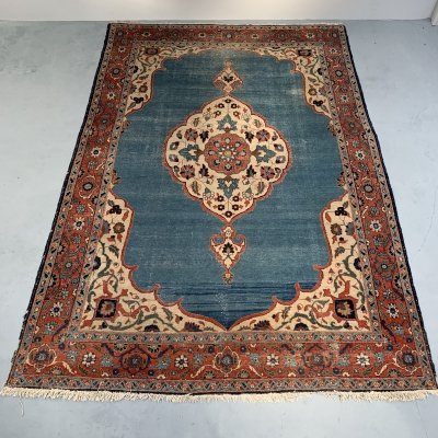 Large hand-knotted Persian Tabriz rug, 1950s