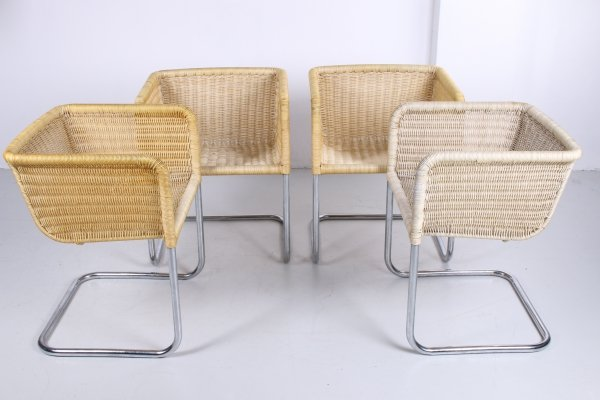 D43 Bauhaus cantilever Chairs in tubular steel by Tecta, 1960s