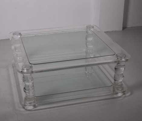 Plexiglass Charles Hollis Jones Coffee table, 1970s