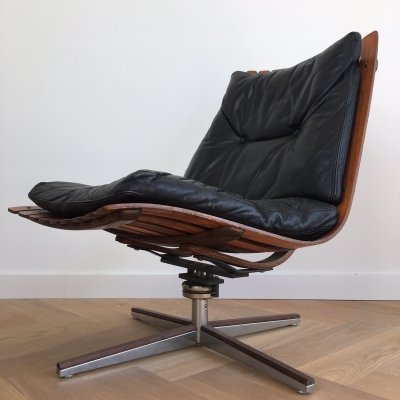 Lounge chair by Hans Brattrud for Hove Möbler, 1960s