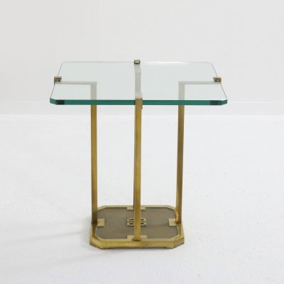 Brass side table 'T18' by Peter Ghyczy, 1970s