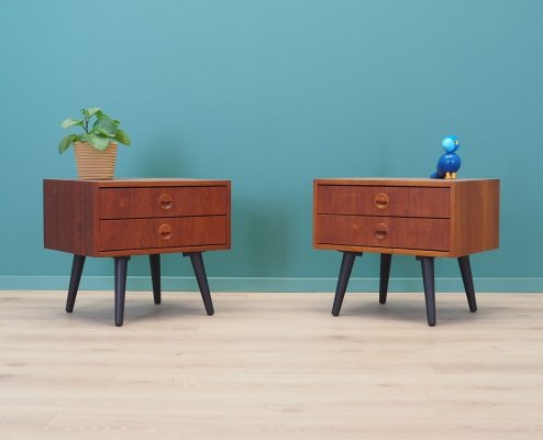 Pair of Teak bedside tables, Denmark 70s