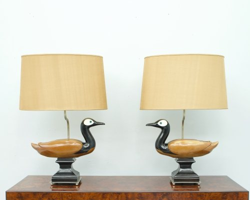 Pair of decorative Ducks Tabe lamps, France 1960s