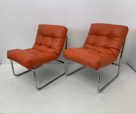 Pair of rare 'Pixi' lounge chairs by Gillis Lundgren for Ikea, 1970s