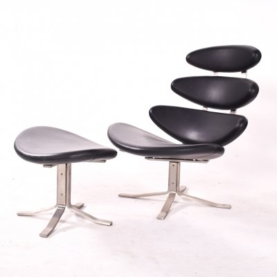 EJ 5 Corona Chair by Poul Volther for Erik Jorgensen, 1970s