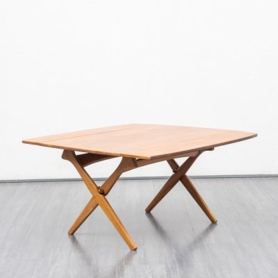 Danish teak coffee - / dining table by A. Hovmand Olsen for Mogens Kold