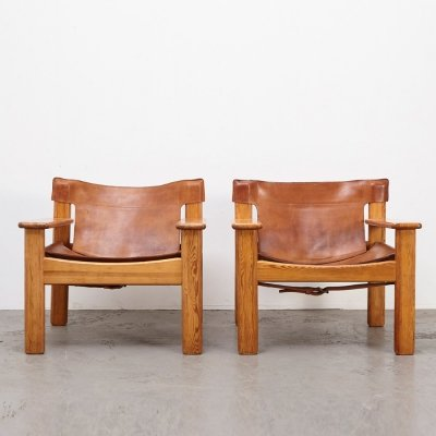 Karin Mobring Pair of Natura Lounge Chairs by Ikea Sweden, 1970s