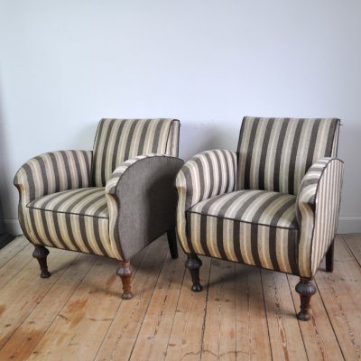 Danish Art Deco club or lounge chairs, 1920s
