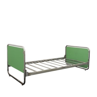 Bauhaus tubular chrome bed by Rudolf Vichr, 1930s