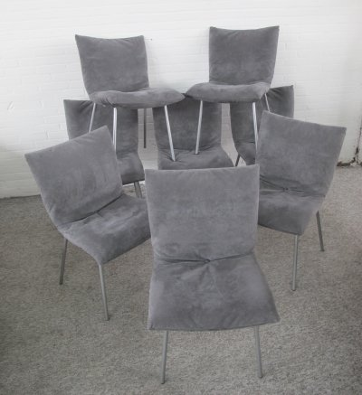 8 Calin chairs by Pascal Mourgue for Ligne Roset, 1990s