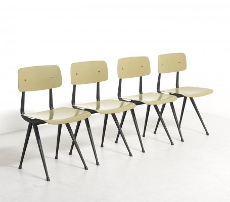 Set of 4 'Result' Chairs by Friso Kramer & Wim Rietveld for Ahrend De Cirkel, 1960s