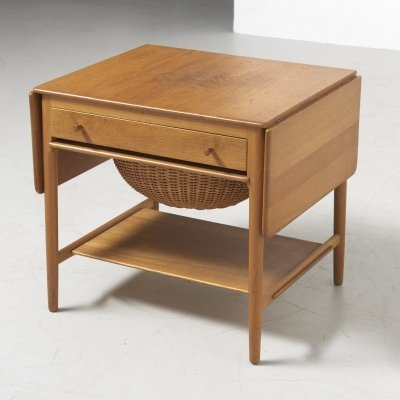 Sewing Table Model AT-33 in Oak by H. J. Wegner for Andreas Tuck, Denmark 1950