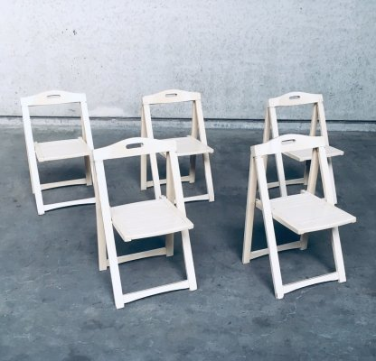 Midcentury Modern Folding Chairs by Aldo Jacober for Alberto Bazzani, Italy