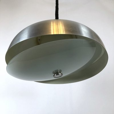 Large Italian pendant light with adjustable glass by Oscar Torlasco for Lumi, 1950s