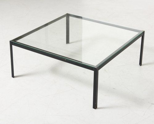 Low Table in Glass & Steel by Floris Fiedeldij for Artimeta, Netherlands 1960s