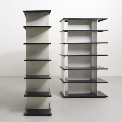 Set of 2 Steel Bookcases by Wim Rietveld, Netherlands 1960's