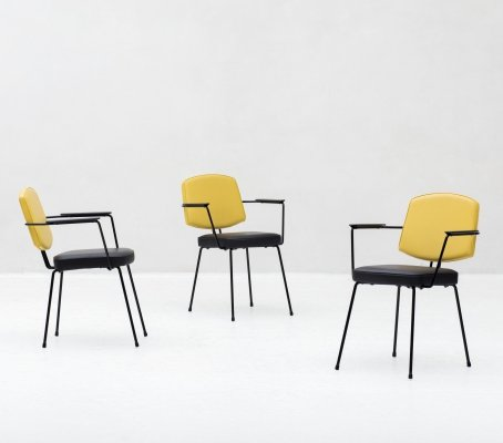 Set of side chairs by Rudolf Wolf for Elsrijk, Dutch design 1950's